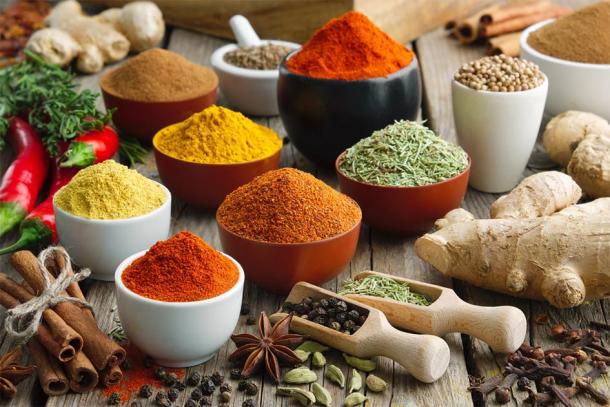 Various spices and herbs for Ayurveda treatments. (chamillew / Adobe Stock)