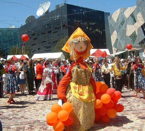 The spring fertility festival of Maslenitsa in Melbourne, Australia.