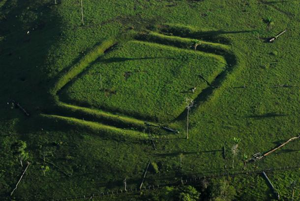 One of the square geoglyphs.