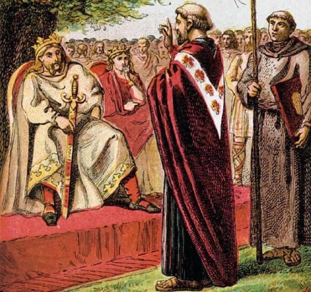 St Augustine preaching during Christianization of Anglo-Saxon England (Joseph Martin Kronheim / Public domain)
