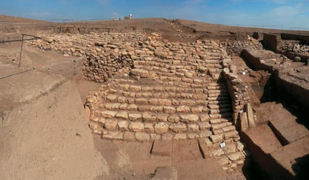 A staircase unearthed at Tell Mozan