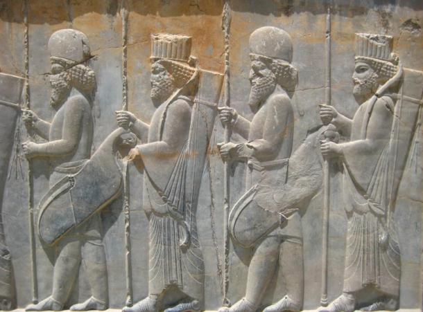 Persepolis, stairs of the Apadana, relief