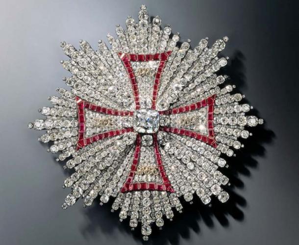 Breast Star of the Polish White Eagle Order. (Jürgen Karpinski / © Grünes Gewölbe, Staatliche Kunstsammlungen Dresden)