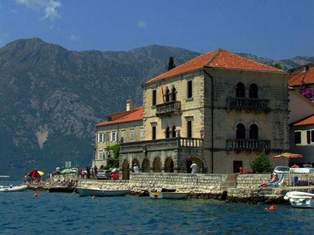 The stately palace of Count Vicko Bujović in Perast, Montenegro today. (Janusz Czekala / Perast Museum)
