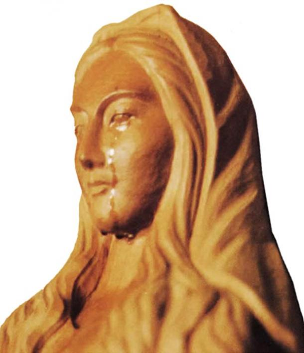 Our Lady in Akita weeping.