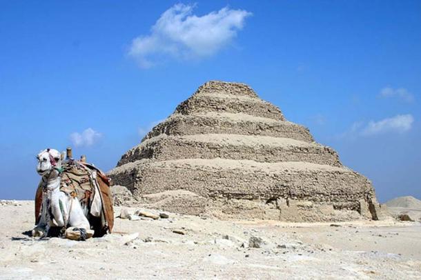 The stepped pyramid at Saqqara. (CC BY-SA 3.0)