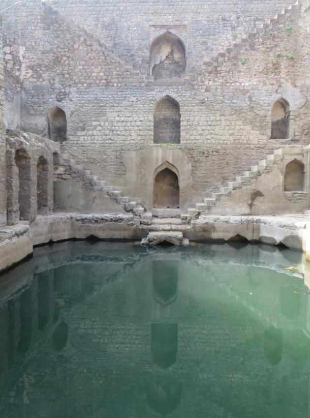 A vav or stepwell apparently still functional in Madhya Pradesh