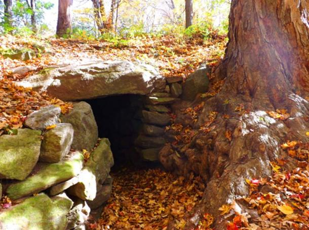A stone chamber found in New England