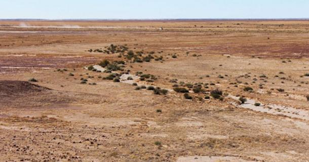 This stone circle is one of several archaeological features over quite a few square kilometers in Queensland's Channel Country.