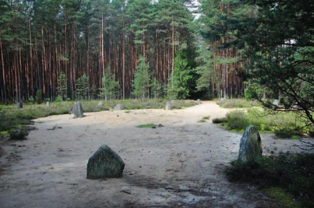 An example of stone circles in Grzybnica, Poland.