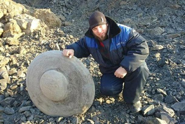 The disc-shaped object dug up in Russia by a coal mining company