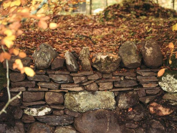 One of the dry stone walls the pair have been working on. (Kirstie De Garis)