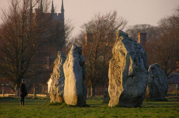 Some of the standing stones at Avebury