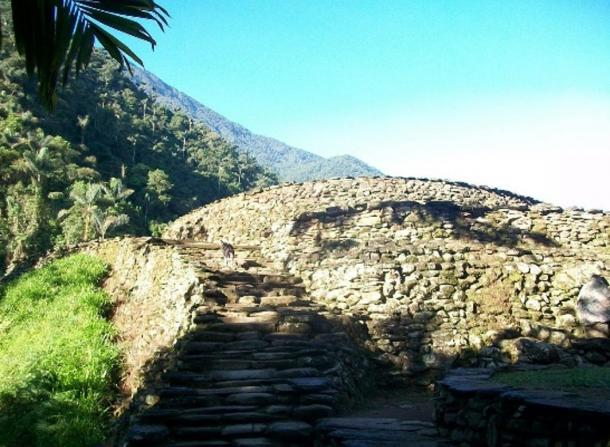 Photograph showing the beauty of the stonework at Ciudad Perdida.