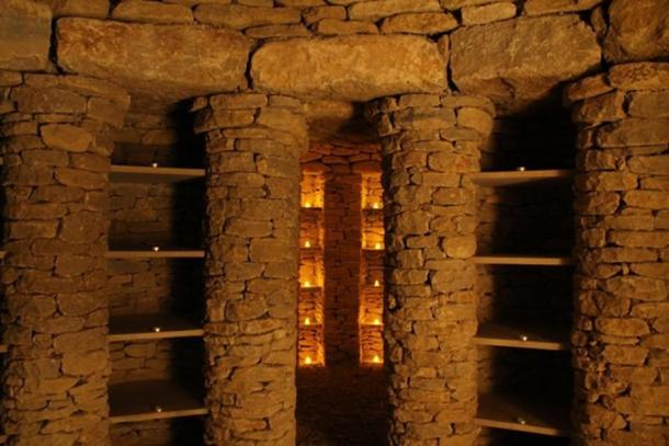 "Inside the ""storage facility"" that is All Canning Long Barrow. (The Long Barrow)"