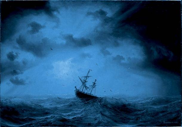The storm buffeted the ship for a day and a night.
