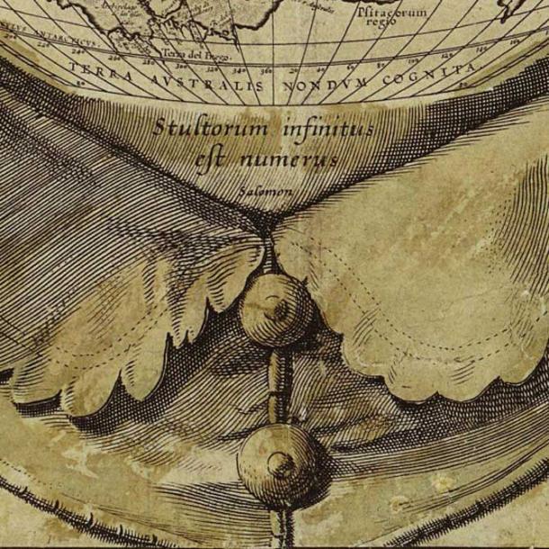 Close up of the engraving wording: 'stultorum infinitus est numerus' - 'the number of fools is infinite'