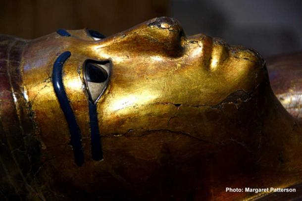 Detail of the stunning facemask of the inner coffin of Kha who was the 'Overseer of Works' under three consecutive rulers. Museo Egizio, Turin, Italy.