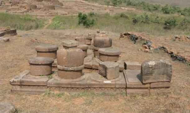 General view of the stupas Udayagiri, Odisha