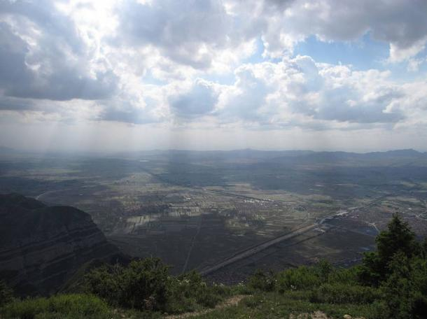 View from the summit of Heng Shan, Shanxi province, China.