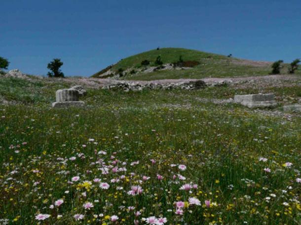 Ruins below the summit of Mt Lykaion.
