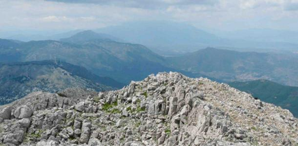 The summit of Mt Zagaras north of Athens.