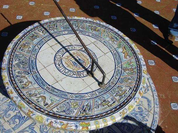 A 20th-century sundial in Seville, Andalusia, Spain.