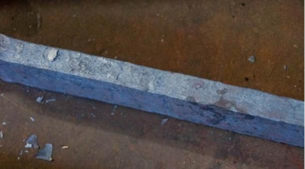 A sword made of Damascus steel