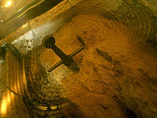 Sword in the stone around which was built Montesiepi Chapel, Italy. (CC BY- 3.0)