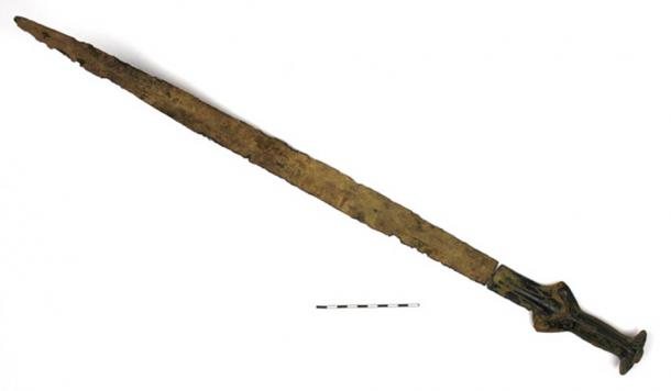 Dr. Jiří Juchelka, a medieval sword specialist, from nearby Silesian Museum, dated the Bronze Age sword to about 1,300 BC. (Jiří Juchelka / Silesian Museum)