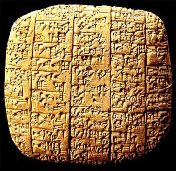 A tablet from the Ebla archive.