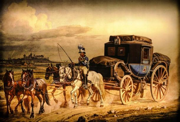A team of horses pulling a carriage. (CC0)