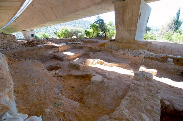 The Tel Motza Iron Age temple excavation site in Jerusalem. (Natritmeyer / CC BY-SA 4.0)