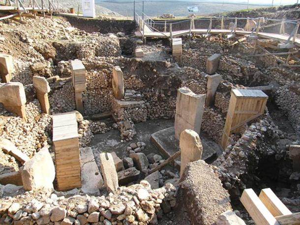 All of the temple areas were buried