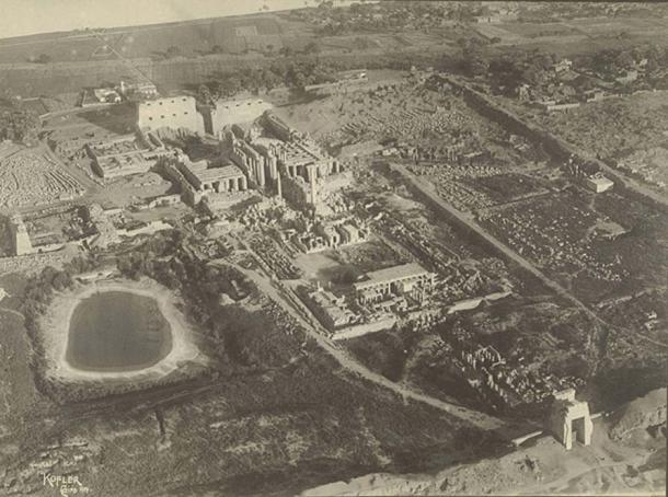 Photograph of the temple complex taken in 1914 - Cornell University Library.