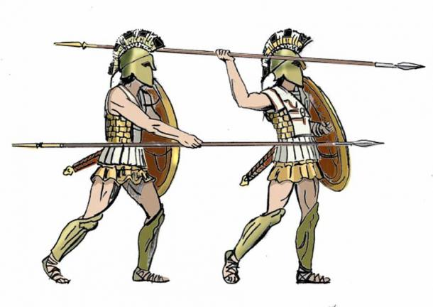 The terracotta relief, for which several puzzle pieces have been found on St. Cyricus, depicts hopolite warriors which would have been found at the Greek colony of Apollonius Pontica in the sixth century BC. (Public domain)