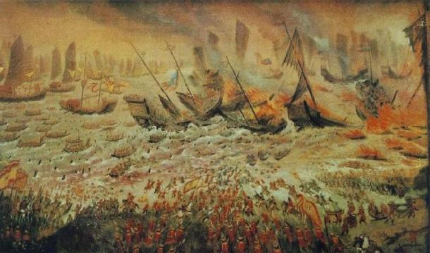 The Battle of Bach Dang, 1288. (Public Domain)