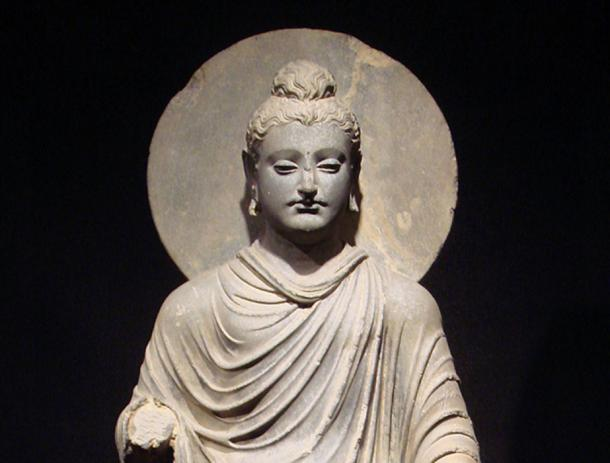 One of the first representations of the Buddha, first to second century CE, Greco-Buddhist art, Gandhara.