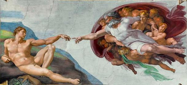 'The Creation of Adam' (c. 1511) by Michelangelo.