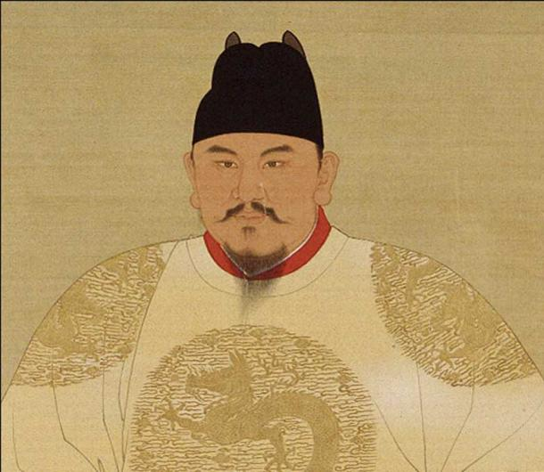 Official court painting of the Hongwu Emperor (reigned 1368-1398 AD), Ming Dynasty, China.