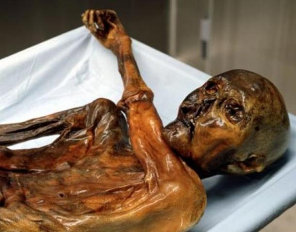 Ötzi the Iceman, a man from about 3300 BC, famously a naturally preserved body, was found in a glacier in the Alps