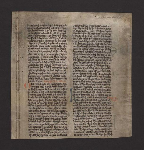 The single surviving page known as the Kringla leaf (Kringlublaðið) is kept in the National and University Library of Iceland.