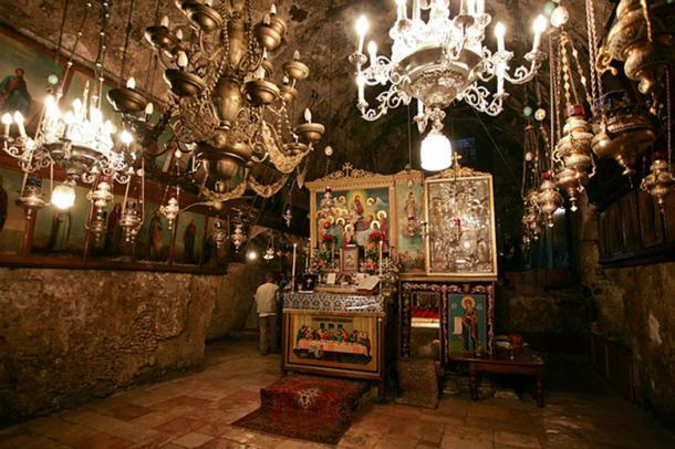 Altar in the Tomb of Mary, Jerusalem.