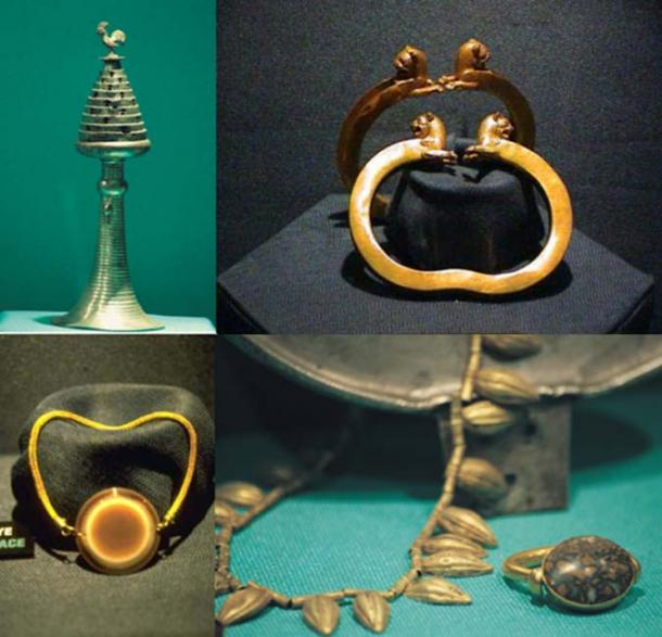 Some of the beautiful artifacts included in the Lydian/Karun treasure.