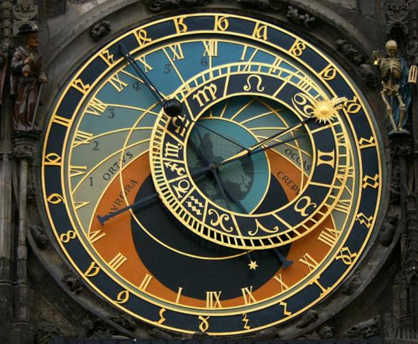 The clocks dials.