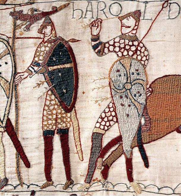 Bayeux tapestry: the death of Harold.