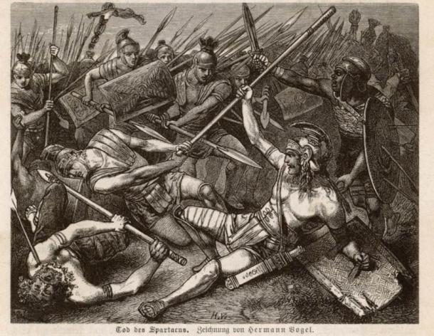 The Death of Spartacus, Hermann Vogel, 1882