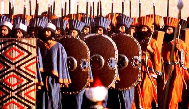'The Immortals' at the 2,500th anniversary of Persia in ceremonial dress