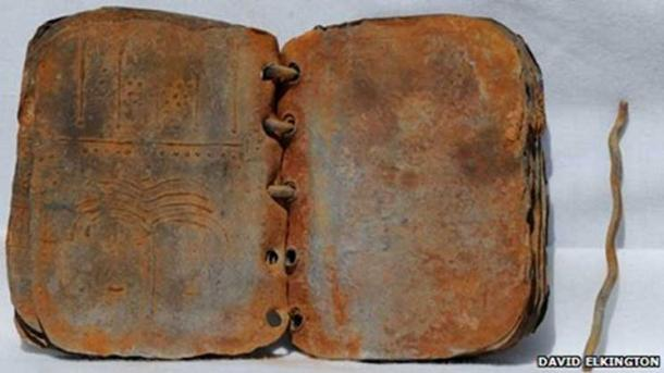 One of the lead codices found in Jordan.