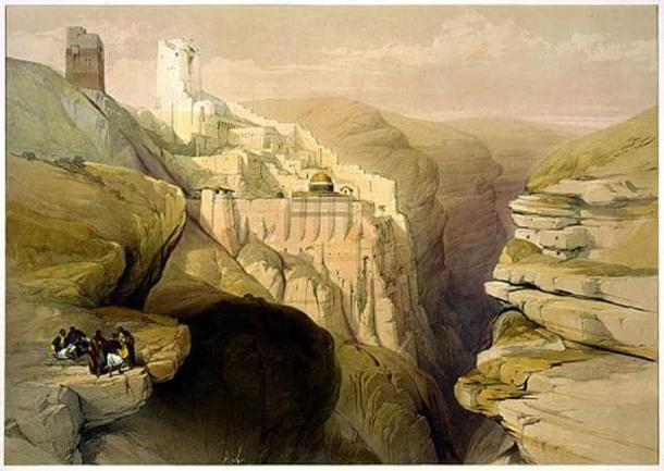 Illustration of the monastery.